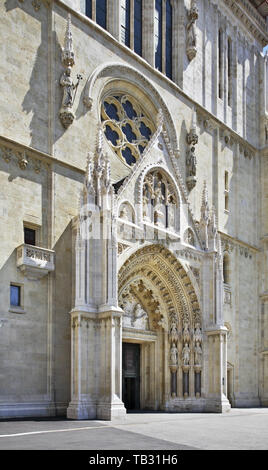 Cathedral of St. Stephen in Zagreb. Croatia - Stock Photo