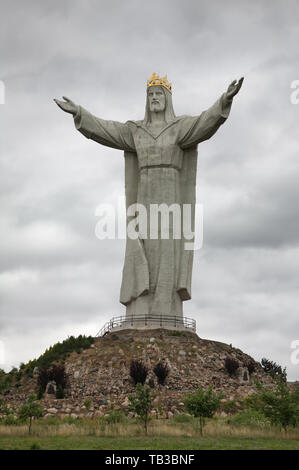 Monument of Christ King in Swiebodzin. Poland - Stock Photo