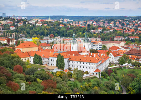 View of Strahov Monastery in Prague, Czechia - Stock Photo