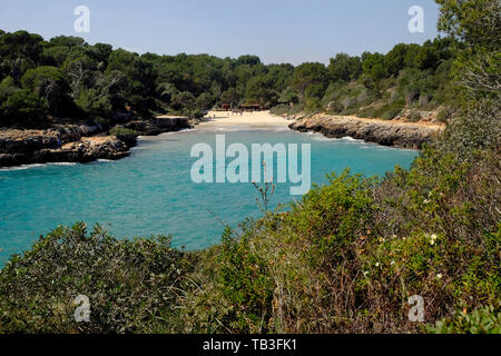 24.03.2017, Portocolom, Majorca, Spain - View to the bay of Cala sa Nau at the east coast of the island. 0RL170324D003CAROEX.JPG [MODEL RELEASE: NO, P - Stock Photo