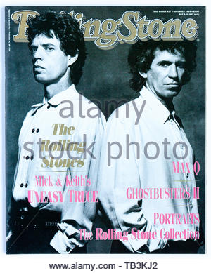 The cover of Rolling Stone magazine, issue 437, featuring Mick Jagger and Keith Richards - Stock Photo