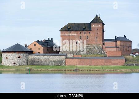 Hame castle by the Vanajavesi lake in Hämeenlinna Finland - Stock Photo