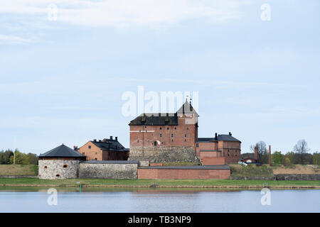 Hame castle by the Vanajavesi lake in Hämeenlinna Finland - Stock Photo