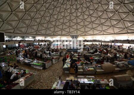 Indoor view. Chorsu Bazaar. Tashkent. Uzbekistan - Stock Photo