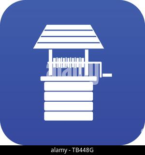 Water well icon digital blue - Stock Photo