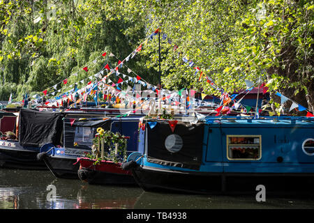Canalway Calvalcade festival, Little Venice, London, England, United Kingdom - Stock Photo