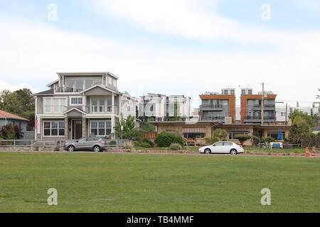 Lakefront House by Sloan's Lake, Denver, Colorado, USA - Stock Photo