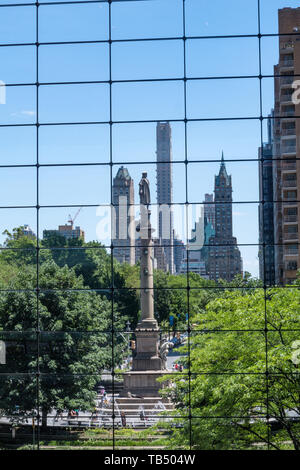 Time Warner Center is at Columbus Circle, NYC, USA - Stock Photo