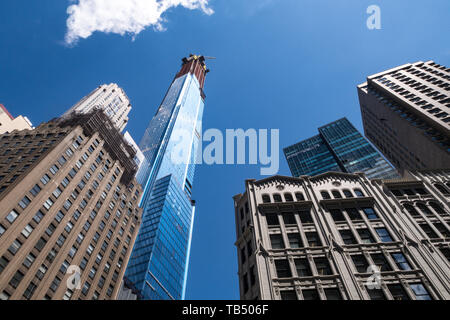 Central Park Tower Supertall condo Under Construction on W 57th Street, NYC, USA - Stock Photo