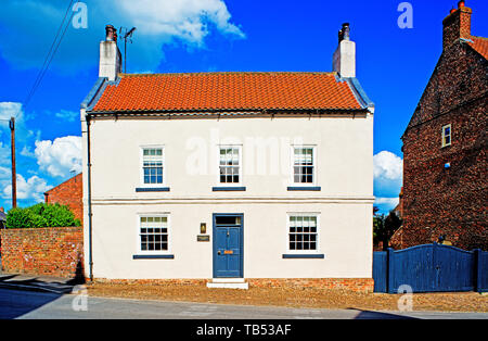 Period Houses, Helperby, North Yorkshire, England - Stock Photo