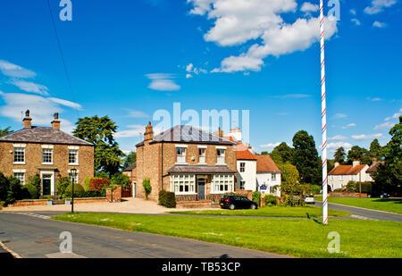 Village Green, Aldborough, North Yorkshire, England - Stock Photo