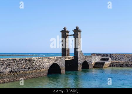 Drawbridge Puente de las Bolas, Arrecife, Lanzarote, Canary Islands, Spain - Stock Photo