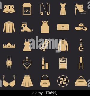 Possessions icons set, simple style - Stock Photo