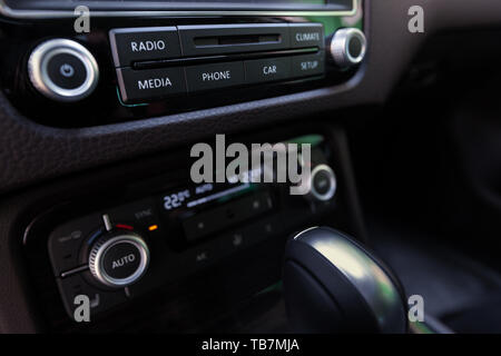 Smart multimedia touchscreen system for automobile - Stock Photo