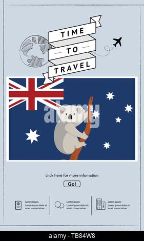 Travel to australia presentation template. - Stock Photo