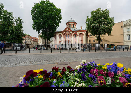 Vilnius, Lithuania. May 2019.   An outdoor view of Saint Parasceve Orthodox Church - Stock Photo