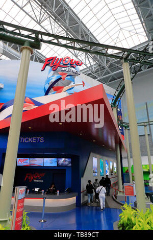 The entrance of Fly Over America ride in Mall of America.Bloomington.Minnesota.USA - Stock Photo