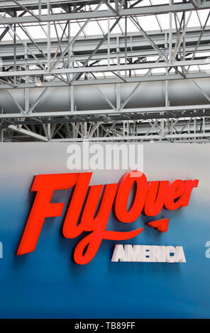 Fly Over America ride in Mall of America.Bloomington.Minnesota.USA - Stock Photo