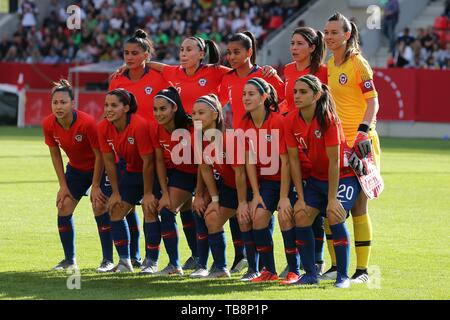 Regensburg, Deutschland. 30th May, 2019. firo: 30.05.2019, Football, Landerspiel, Test match women, Germany - Chile, Chile, CHI, Teamfoto | crew worldwide | usage worldwide Credit: dpa/Alamy Live News - Stock Photo
