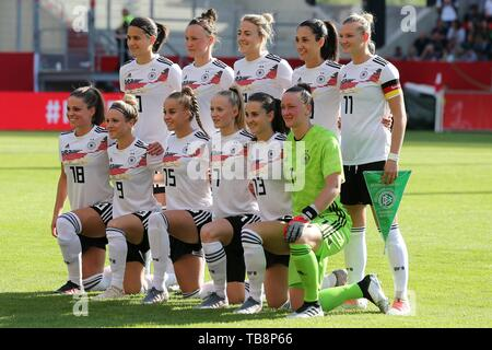 firo: 30.05.2019, Football, Landerspiel, Test Game Women, Germany - Chile, Germany, DFB, GER, Teamfoto, Teamfoto, | usage worldwide - Stock Photo