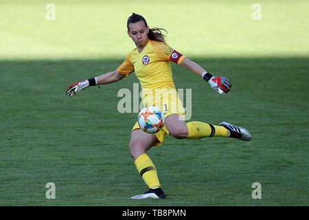 Regensburg, Deutschland. 30th May, 2019. firo: 30.05.2019, Football, Landerspiel, Test match women, Germany - Chile, Christiane Endler, Chile, CHI, single action, | usage worldwide Credit: dpa/Alamy Live News - Stock Photo