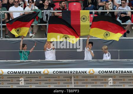 Regensburg, Deutschland. 30th May, 2019. firo: 30.05.2019, Football, Landerspiel, Test match women, Germany - Chile, Commerzbank, Germany, DFB, GER, flags, | usage worldwide Credit: dpa/Alamy Live News - Stock Photo