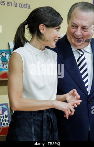 Madrid, Spain. 31st May, 2019. Queen Letizia attends Opening of Madrid Book Fair at El Retiro park in Madrid, Spain on the 31st of May of 2019. May31, 2019. Credit: Jimmy Olsen/Media Punch ***No Spain***/Alamy Live News - Stock Photo