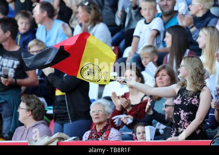 Regensburg, Deutschland. 30th May, 2019. firo: 30.05.2019, Football, Landerspiel, Test match Women, Germany - Chile, Germany, DFB, GER, Flag, General, | usage worldwide Credit: dpa/Alamy Live News - Stock Photo