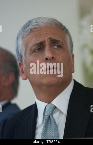 Corigliano Rossano, Giuseppe Graziano, candidate for mayor of the new municipality of Corigliano Rossano, after the first is on the ballot. 16/05/2019, Corigliano Rossano, Italy - Stock Photo