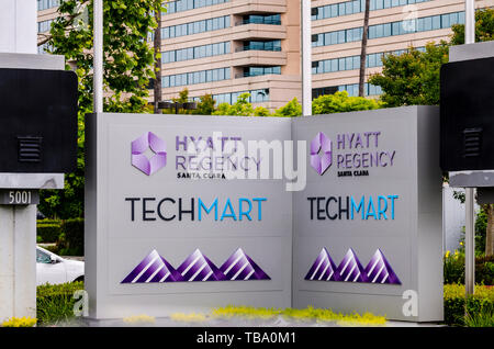 The Hyatt Regency at the Santa Clara Convention Center in the Silicon Valley of California - Stock Photo