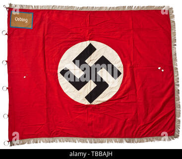 Nazi Germany, National Socialist German Workers' Party (NSDAP), flag of the local group Oeding, North Rhine-Westphalia, Editorial-Use-Only - Stock Photo