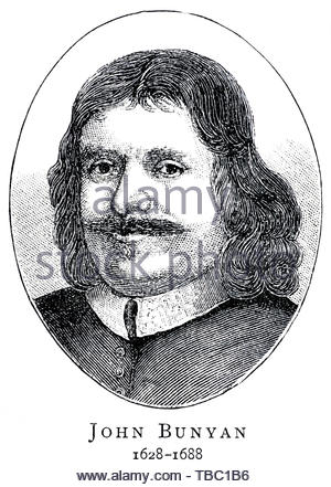 John Bunyan portrait, 1628 – 1688 was an English writer and Puritan preacher best remembered as the author of the Christian allegory The Pilgrim's Progress - Stock Photo