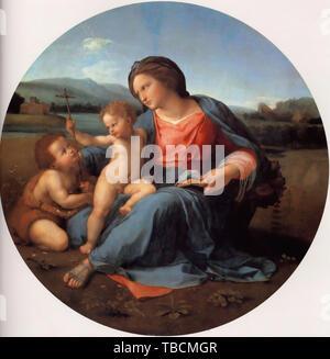 Raffaello Sanzio Da Urbino - Raphael - Alba Madonna 1511 - Stock Photo