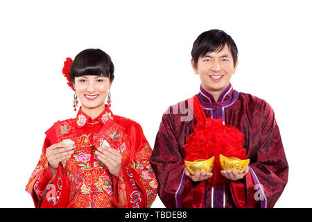A couple's Chinese wedding. - Stock Photo