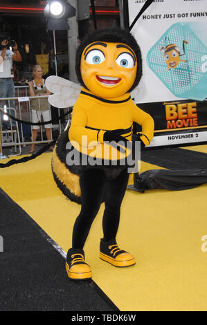 LOS ANGELES, CA. October 28, 2007: Bee character at the Los Angeles premiere of 'Bee Movie' at the Mann Village Theatre, Westwood. © 2007 Paul Smith / Featureflash - Stock Photo