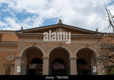 Sarajevo: the Gradska Trznica Markale, the City Market place of Healthy Food, built in 1894 in Neo-Renaissance style and designed by August Butsch - Stock Photo