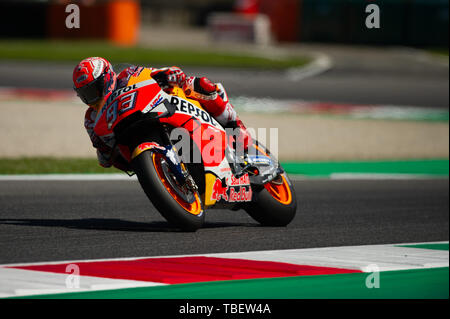 Scarperia E San Piero, Italy. 31st May, 2019. during Friday free practices in Mugello Circuit Credit: Lorenzo Di Cola/Pacific Press/Alamy Live News - Stock Photo