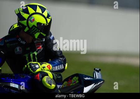 Scarperia E San Piero, Italy. 31st May, 2019. Valentino Rossi during Friday free practices in Mugello Circuit Credit: Lorenzo Di Cola/Pacific Press/Alamy Live News - Stock Photo