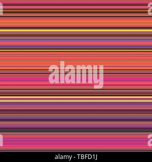 Thin And Thick Colorful Flat Stripes Seamless Pattern Vector Background Texture .Vector illustration - Stock Photo