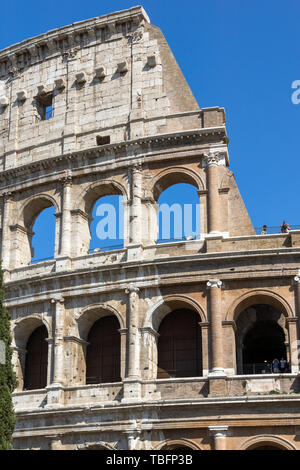 ROME, ITALY - JUNE 23, 2017: Building of Colosseum in city of Rome, Italy - Stock Photo