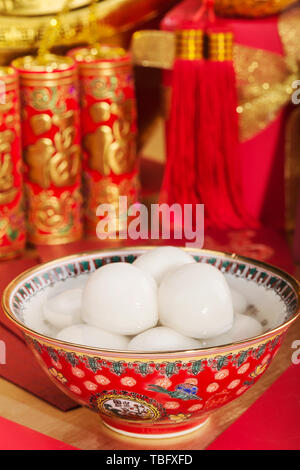 Traditional Chinese New Year diet dumplings - Stock Photo
