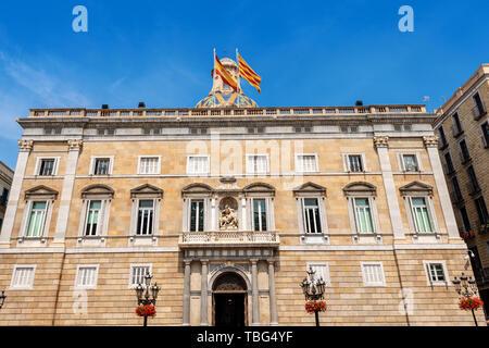 Palau de la Generalitat de Catalunya, XV-XVII century, building of medieval origin used as a seat of government in Barcelona, Spain, Europe