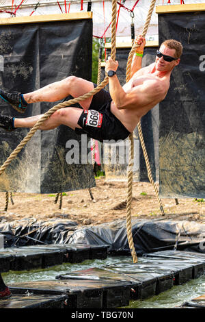Rugged Maniac Obstacle Race Kitchener Ontario Canada June 01 2019 - Stock Photo