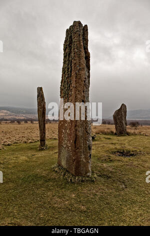 Machrie Moor Stone Circles - Stock Photo