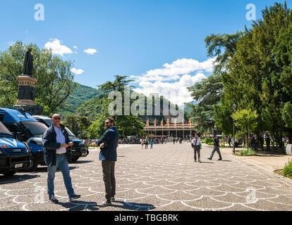 TRENTO, Italy - 31 may, 2019: Dante Alighieri square in