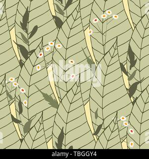 Retro wild seamless floral pattern. Vintage background blooming realistic isolated flower print. Hand drawn vector illustration. - Stock Photo