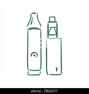 Vector hand drawn  vaporizers illustration on white background - Stock Photo