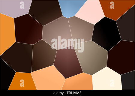 Geometric pattern of dark colors as a mosaic of large tiles of a minimalist design of brown tones, abstract colored texture shape. - Stock Photo