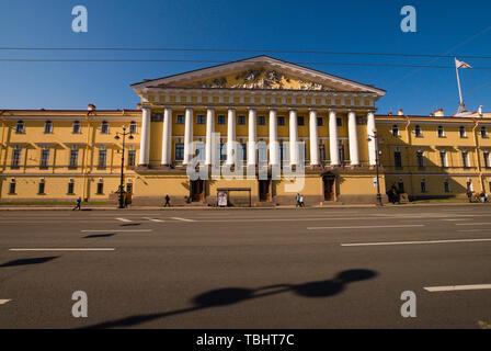 The Admiralty Building on Admiralteyskiy pr-d, St. Petersburg, Russia - Stock Photo
