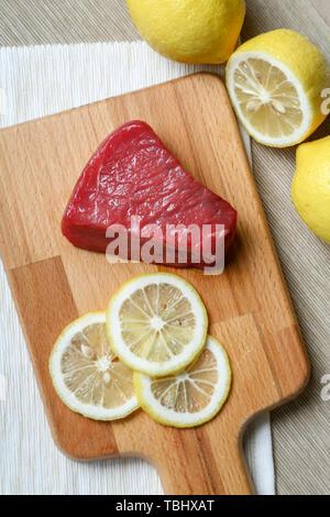 Beef and lemon - Stock Photo